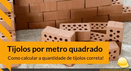 Quantos tijolos por metro quadrado - dest